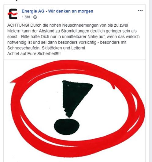 Engergie AG Freileitung Gefahr