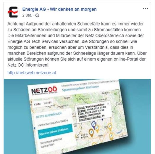 Energie AG Freileitung Störung