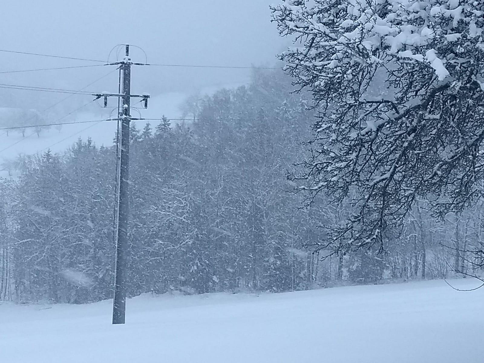 freileitung muehlviertel schnee