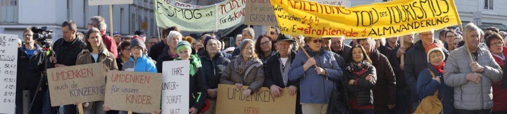 erdkabel statt freileitung - teilnehmer der demo
