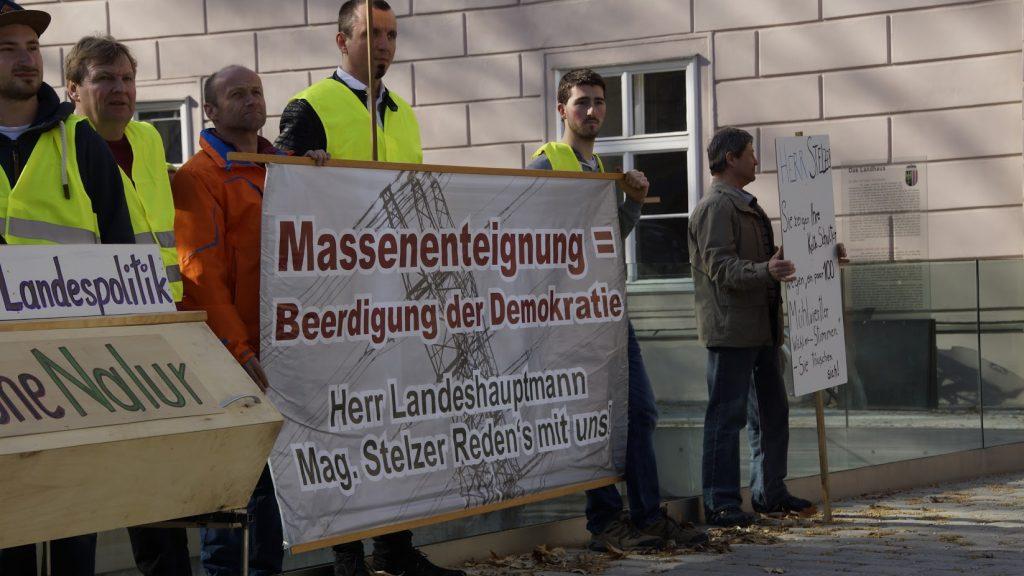 massenenteignung - beerdigung der demokratie - erdkabel statt freileitung